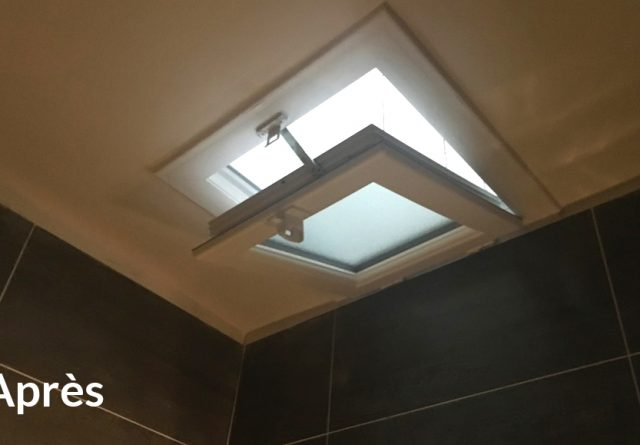 pose de fenêtres PVC blanc plafond salle de bain paris 1